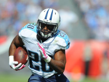 Bishop sankey in 2014 with the Tennessee Titans. Sankey was a 2nd Round Pick in 2014 by the Titans.