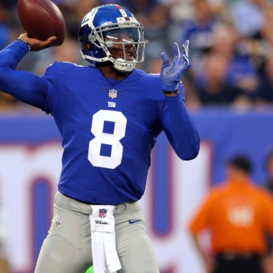 Josh Johnson in 2016 with the New York Giants. Johnson was a 5th Round Pick in 2008 by the Tampa Bay Buccaneers.